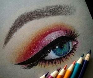art, eye, and draw image