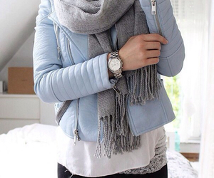 blue, scarf, and chic image