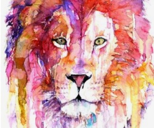 art, beautiful, and lion image