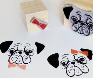 art, fun, and pug image