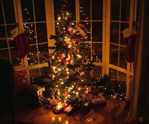 christmas, christmas tree, and presents image