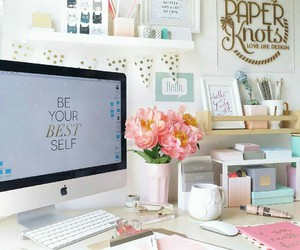 office and pink image