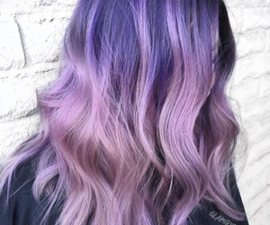 hair, inspiration, and purple image