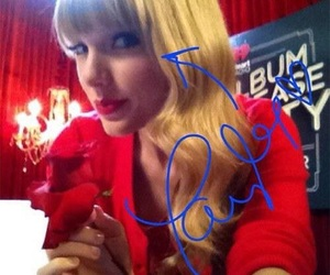 red, Taylor Swift, and lq image