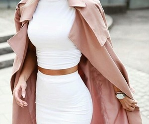 coat, model, and nails image