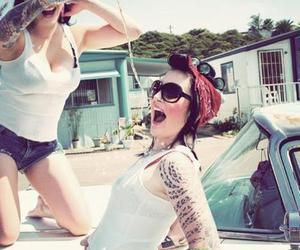 car, girls, and tatoo image