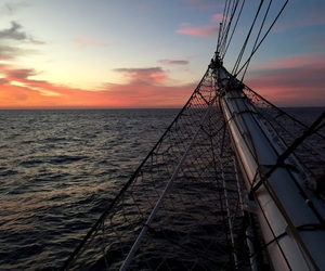 ocean, sailor, and skyline image
