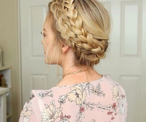 hairstyles, plaits, and pretty image
