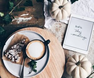 coffee, pumpkin, and autumn image