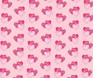 hearts, patterns, and love image
