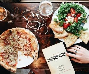 food, pizza, and salad image