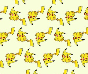 pattern, yellow, and pikachu image