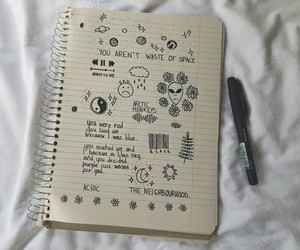 art, pale, and doodles image