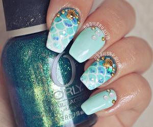 blue, fashion, and nail polish image