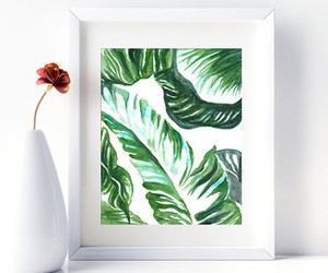 etsy, tropical, and monstera leaf art image