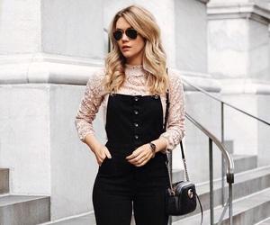 beautiful, black, and blonde hair image