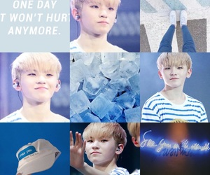 blue, blue white, and Seventeen image