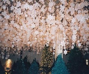 christmas, snowflake, and stars image
