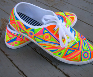 shoes, neon, and colorful image