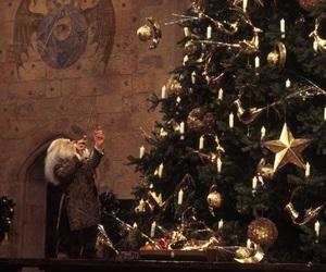 harry potter, christmas, and christmas tree image