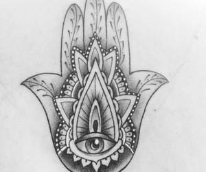 inspiration, tatoo, and fatma hand image