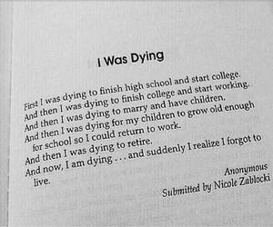 dying, quote, and life image