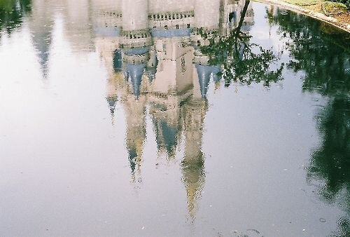 castle, disney, and water image