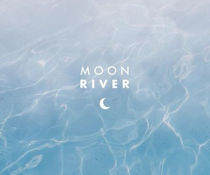 blue, moon, and river image