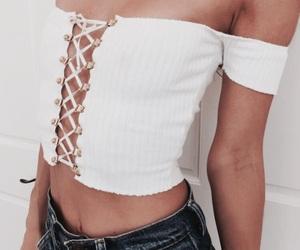 clothing, fashion, and lace up image