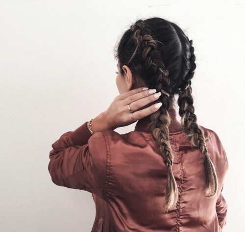 braids, faded, and red image
