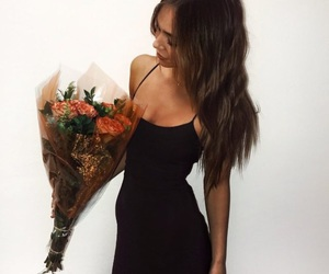 girl, alexis ren, and flowers image