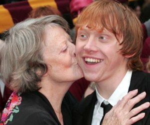 maggie smith and rupert grint image