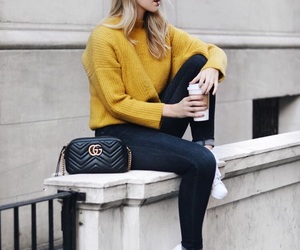 bags, outfits, and sweaters image