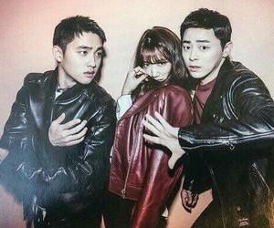 park shin hye, d.o, and jo jung suk image