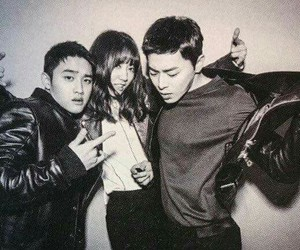 park shin hye, d.o, and exo image
