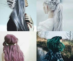 cheveux, Claire, and gris image