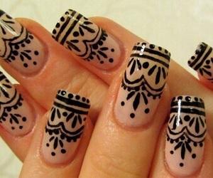 nails, nail art, and henna image