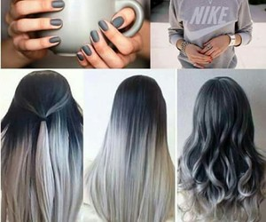 cheveux, gris, and couleur image