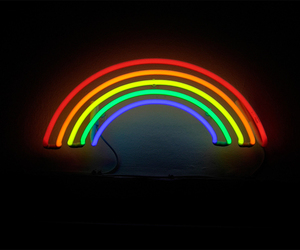 rainbow, light, and neon image