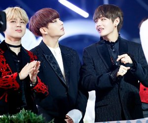v, tae, and jungkook image