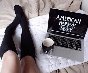 aesthetic, coffee, and american horror story image