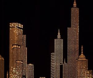 gold, city, and dark image