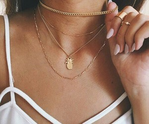 necklace, nails, and style image