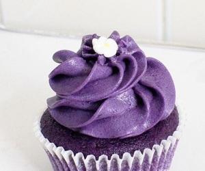 cupcake, purple, and ube image