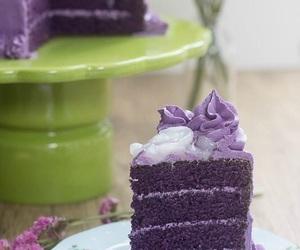cake, ube, and purple image