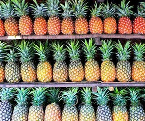 pineapple, fruit, and summer image