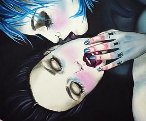 art, drawing, and lesbian image