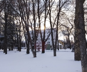 nature, snow, and sun image
