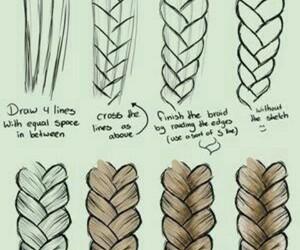 drawing, braid, and draw image