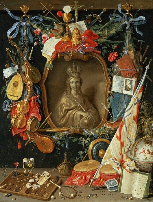 17th century, painting, and allegory image